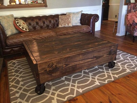 Excellent Top Square Wood Coffee Tables With Storage Pertaining To Best 25 Coffee Table Sets Ideas On Pinterest Farmhouse Coffee (Image 18 of 50)