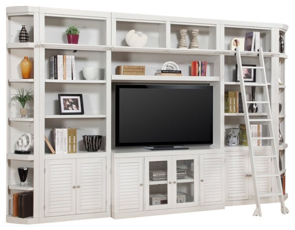 Excellent Top TV Stands With Bookcases With Regard To Parker House Boca Library Wall Entertainment Center Bookcase In (Image 14 of 50)