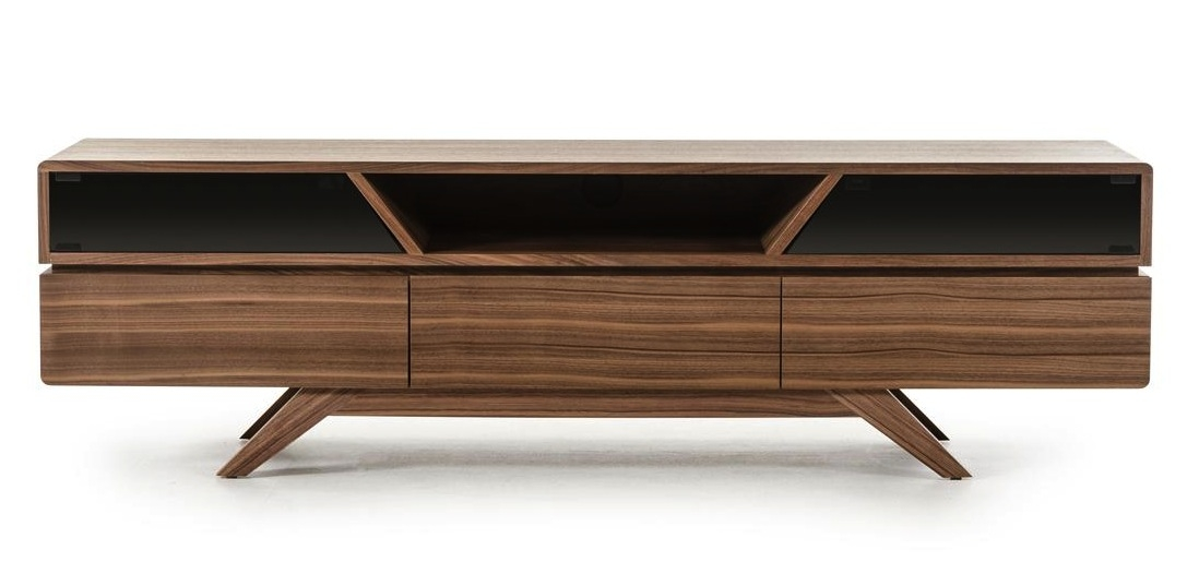 Excellent Top Walnut TV Stands Pertaining To Alan Walnut Tv Stand Advanced Interior Designs (View 40 of 50)