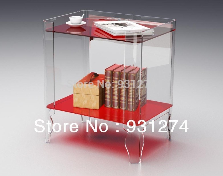 Excellent Trendy Acrylic Coffee Tables With Magazine Rack With Regard To Acrylic Night Stands Bedside Cabinet Coffee Tables With Magazine (View 15 of 40)