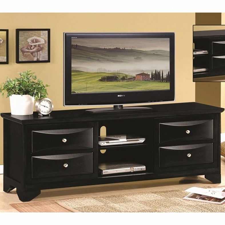 Excellent Trendy Black TV Stands With Drawers For Black Wood Tv Stand Steal A Sofa Furniture Outlet Los Angeles Ca (Image 13 of 50)