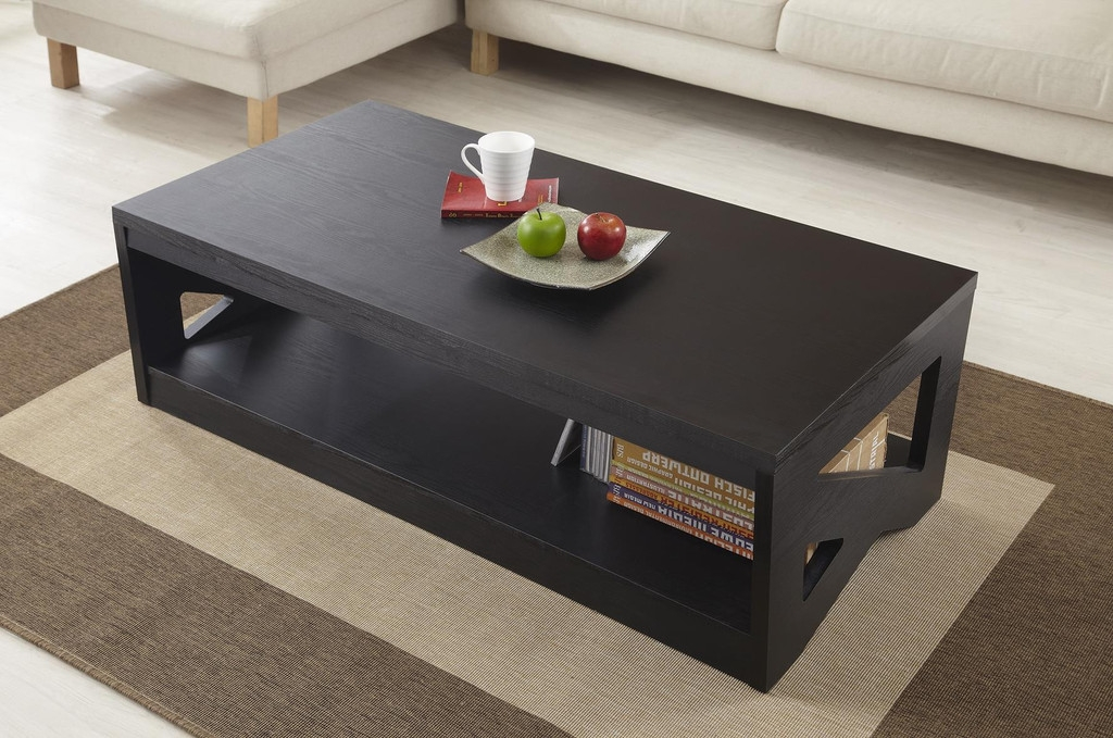 Excellent Trendy Black Wood Coffee Tables Pertaining To Coffee Tables Ideas Black Wood Coffee Table With Glass Top Dark (Image 16 of 40)