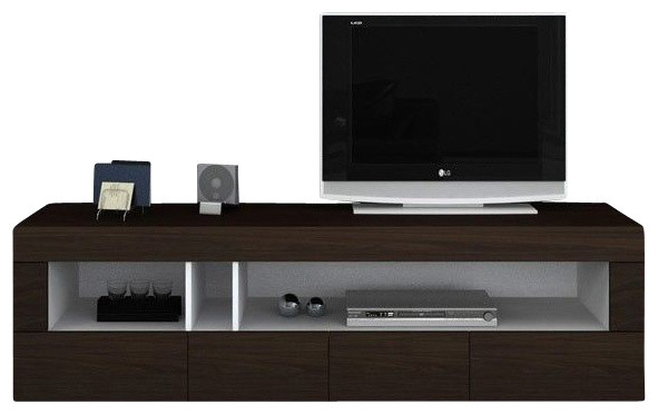 Excellent Trendy Dark TV Stands Throughout Aura Dark Brown Tv Etnertainment Unit Modern Entertainment (Image 17 of 50)