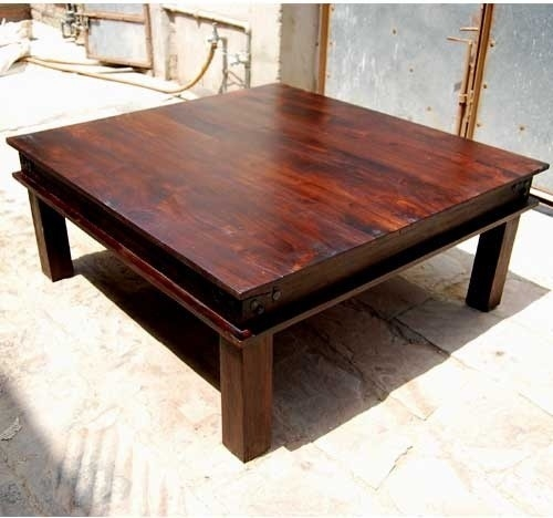 Excellent Trendy Large Square Coffee Tables For Lovable Large Wood Coffee Table Large Wood 2 Storage Drawers (Image 24 of 50)