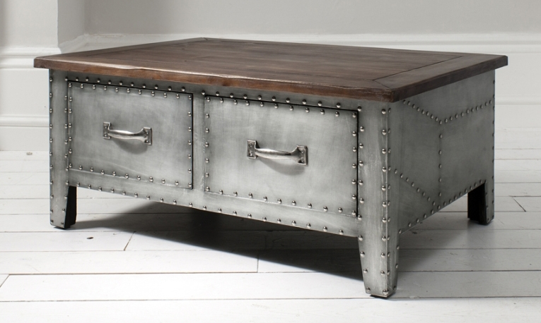 Excellent Trendy Metal Coffee Tables Pertaining To Metal Coffee Tables (Image 15 of 50)