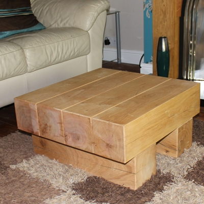 Excellent Trendy Oak Square Coffee Tables Regarding Oak Beam Coffee Tables Uk Quercus Coffee Table In Rustic Solid (Image 16 of 50)
