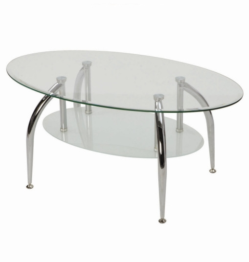 Excellent Trendy Oval Glass And Wood Coffee Tables Inside Oval Metal Glass Coffee Tables (Image 16 of 50)