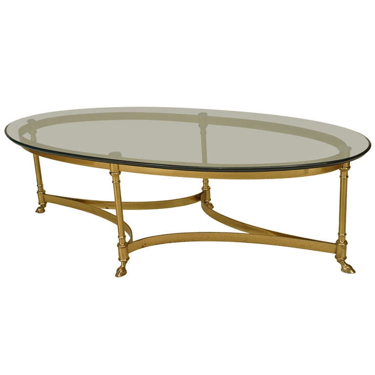 Excellent Trendy Oval Glass And Wood Coffee Tables Pertaining To Dining Room Best Oval Coffee Tables Table Laci Hollywood Regency (Image 17 of 50)