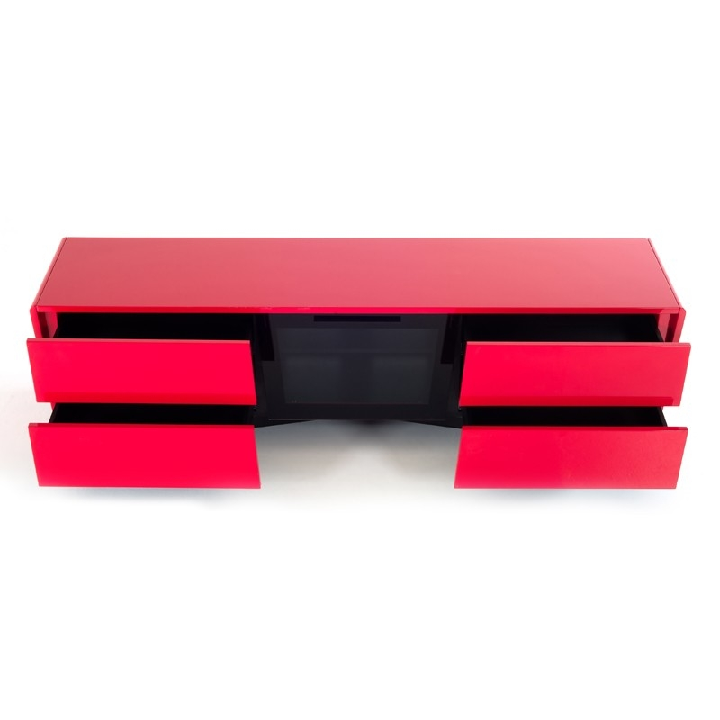Excellent Trendy Red Modern TV Stands With Regard To Nova Domus Max Modern Red Tv Stand (Image 13 of 50)