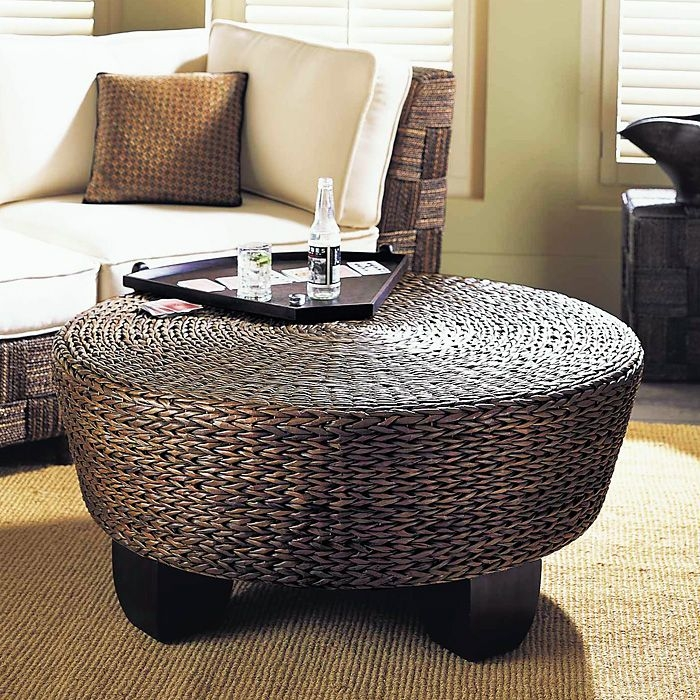 Excellent Trendy Round Storage Coffee Tables Pertaining To Round Ottoman Coffee Table With Storage (View 28 of 50)