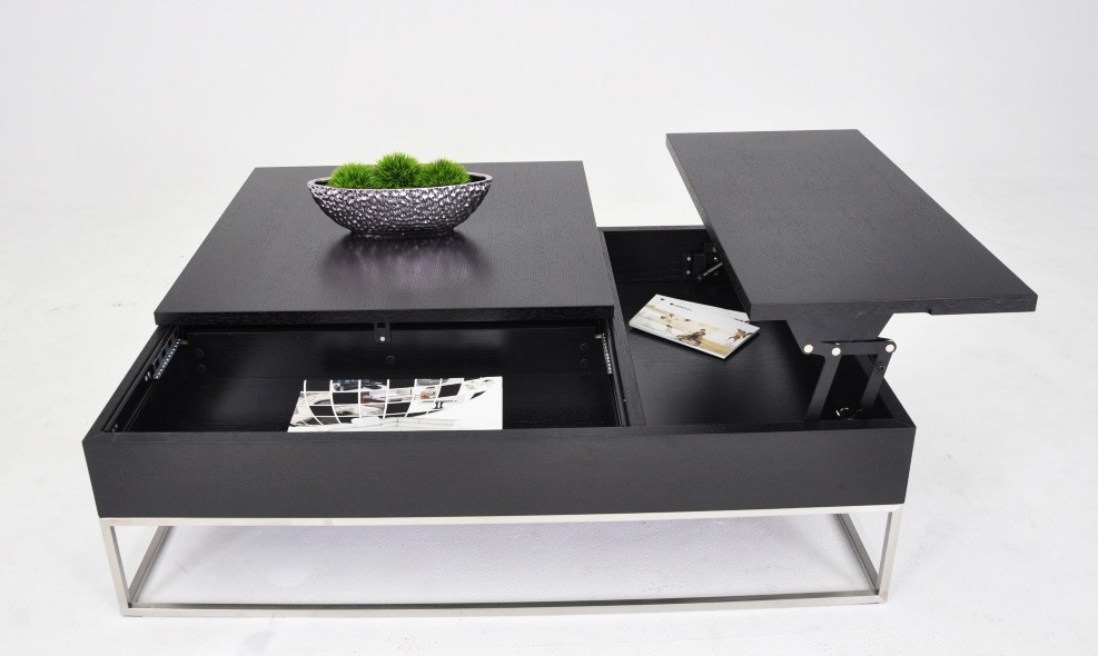 Excellent Trendy Square Coffee Tables With Storage Intended For Table Modern Coffee Table Storage Home Interior Design (Image 16 of 50)