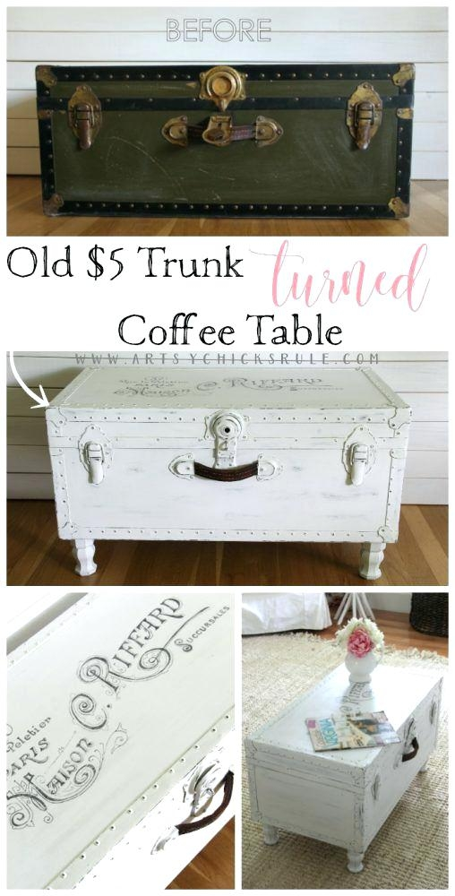 Excellent Trendy Steamer Trunk Stainless Steel Coffee Tables Inside Trunks As Coffee Tables Blackbeardesignco (View 23 of 50)
