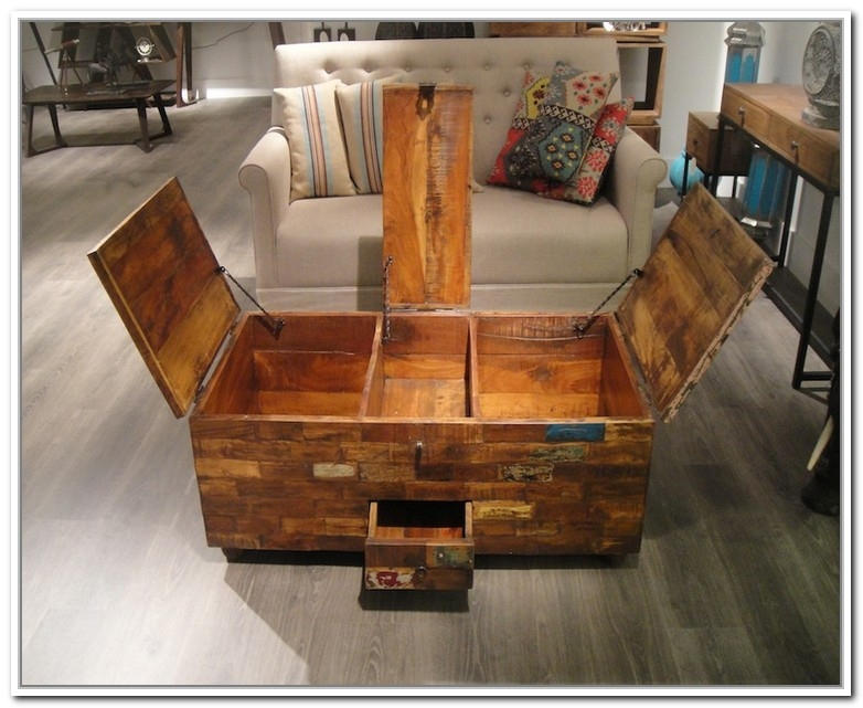 Excellent Trendy Storage Trunk Coffee Tables Intended For Storage Chest Coffee Table (Image 17 of 50)