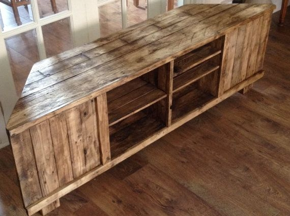 Excellent Trendy TV Stands 100cm With Regard To Rustic Corner Tv Stand Woodworxboz On Etsy Projects To Try (View 34 of 50)