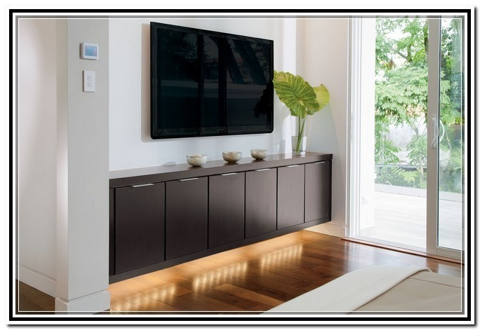 Excellent Trendy Wall Mounted TV Stands With Shelves Throughout Floating Shelves Under Wall Mounted Tv Home Design Ideas (Image 19 of 50)
