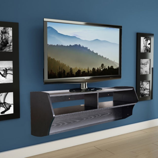 Excellent Trendy Wall Mounted TV Stands With Shelves Within Floating Wall Mounted Console Storage Tv Stand Book Shelf Cabinet (Image 20 of 50)