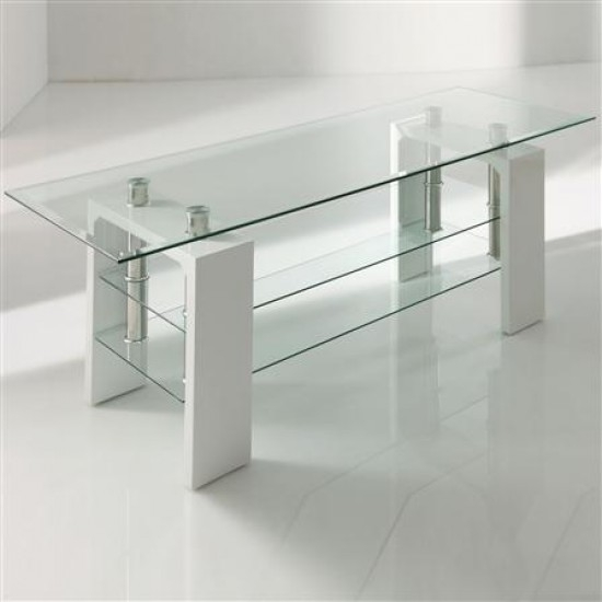 Excellent Trendy White Glass TV Stands Pertaining To Calico White Glass Tv Stand Morale Home Furnishings (Image 20 of 50)