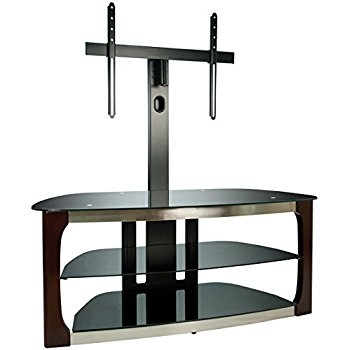 Excellent Unique Bell'O Triple Play TV Stands Pertaining To Amazon Bello Tpc2127 Triple Play Fits Upto 55 Inch Tv Black (Image 15 of 50)