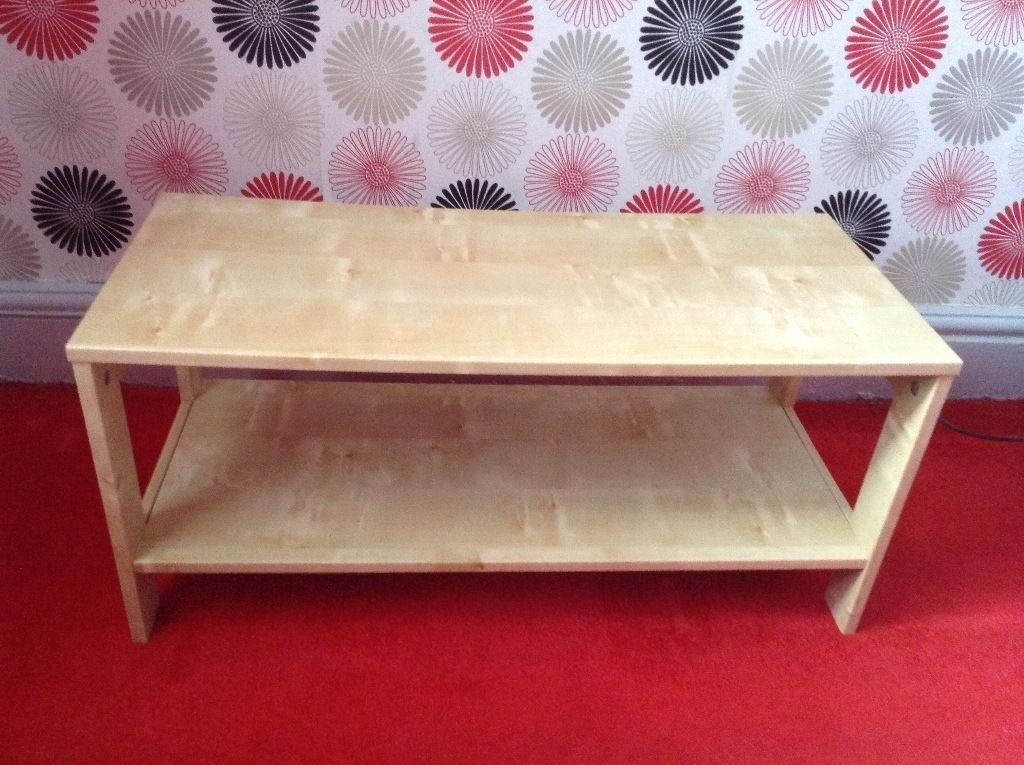 Excellent Unique Birch Coffee Tables Inside Ikea Small Birch Coffee Table Unit Storage 80x35cm In Salford (Image 13 of 50)