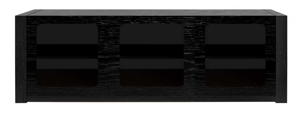 Excellent Unique Black TV Cabinets With Doors Pertaining To Three Door Av Cabinet Home Cinema Tv Stand Aveos Trilogy (Image 17 of 50)