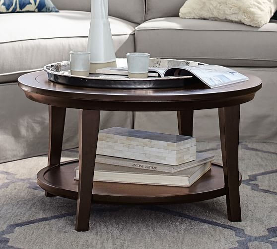 Excellent Unique Circular Coffee Tables Regarding Metropolitan Round Coffee Table Pottery Barn (View 9 of 40)