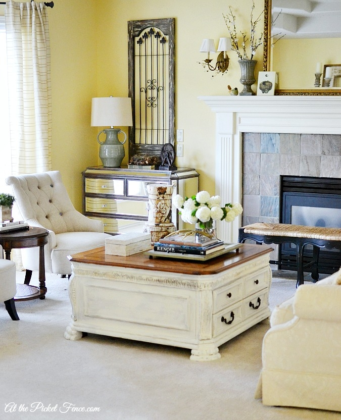 Excellent Unique Country French Coffee Tables Pertaining To Chalky Finish Coffee Table Makeover At The Picket Fence (Image 15 of 50)