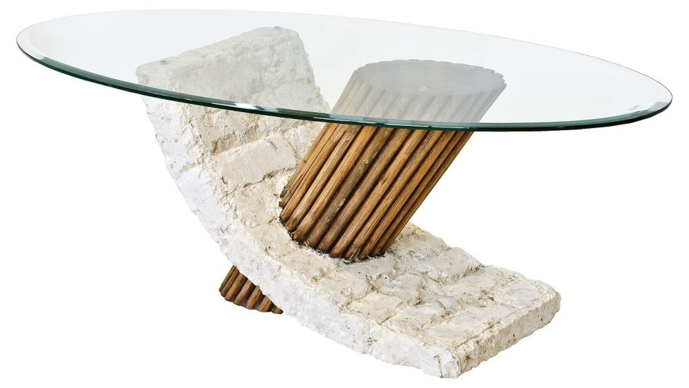 Excellent Unique Glass And Stone Coffee Table With Stone Coffee Table For A Nice Living Room (Image 17 of 50)