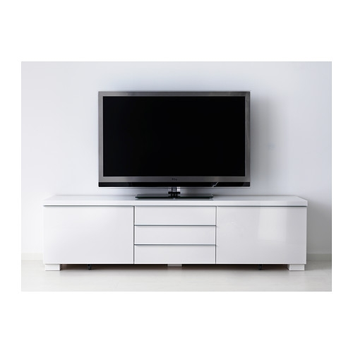 Excellent Unique High Gloss White TV Cabinets Throughout Best Burs Tv Bench High Gloss White 180×41 Cm Ikea (View 47 of 50)