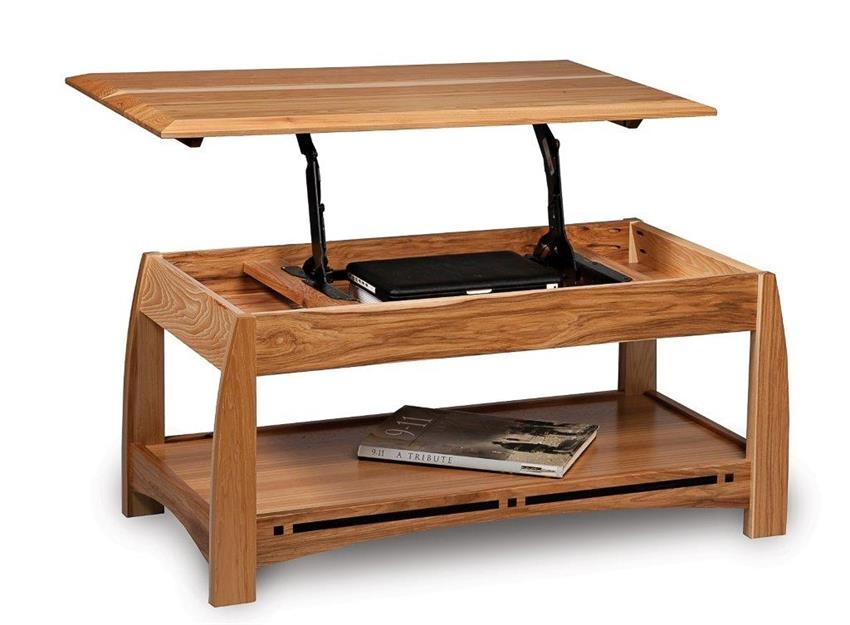 Excellent Unique Lift Top Coffee Tables Pertaining To Boulder Creek Open Lift Top Coffee Table With Counter Weight (View 15 of 50)