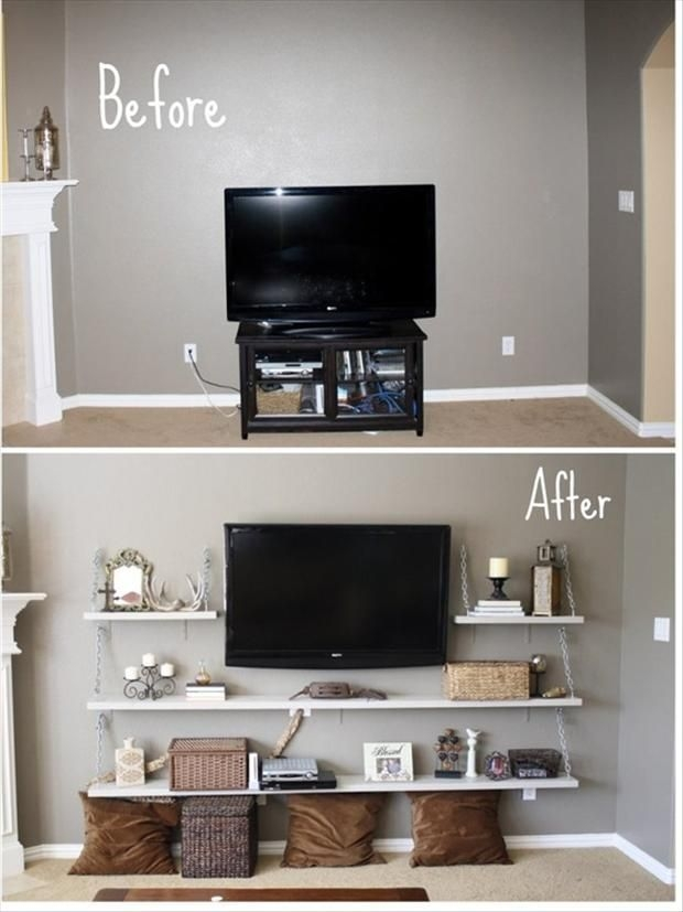 Excellent Unique Modern Wall Mount TV Stands Inside Top 25 Best Wall Mounted Tv Ideas On Pinterest Mounted Tv Decor (Image 17 of 50)