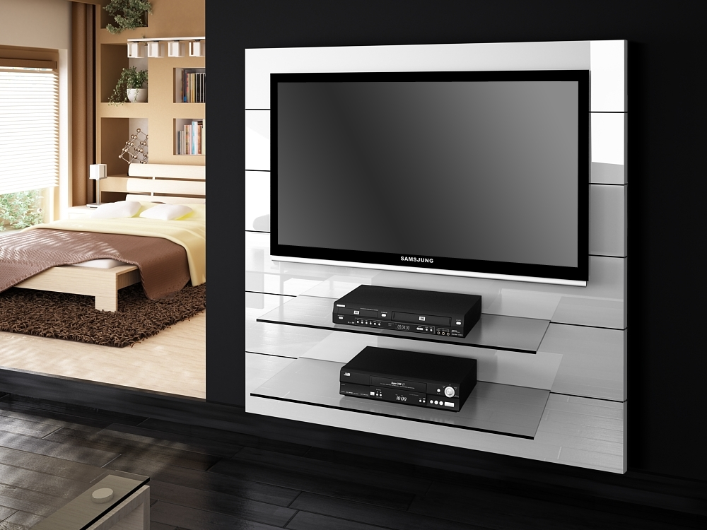 Excellent Unique Modern White Gloss TV Stands For Panorama White Gloss Tv Stands Modern Tv Stands (View 10 of 50)
