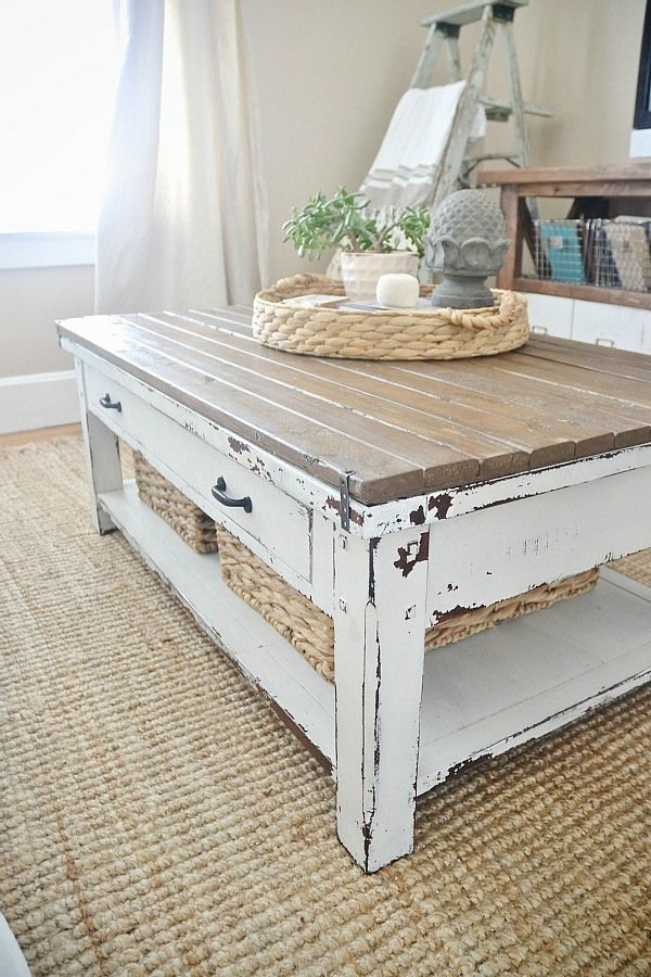 Excellent Unique Rustic Coffee Table Drawers Intended For Best 25 Rustic Coffee Tables Ideas On Pinterest House Furniture (Image 14 of 50)