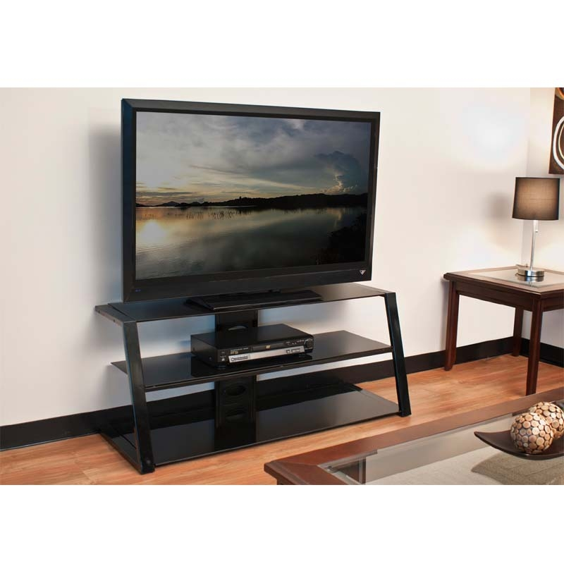 Excellent Unique Slim TV Stands In Tech Craft Ultra Slim Profile 52 Tv Stand Black Glass Pcu (Image 21 of 50)