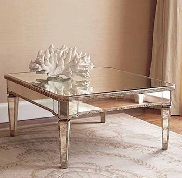 Excellent Unique Small Mirrored Coffee Tables Inside Mirrored Console Table And Coffee Table Designs Stretching Small (View 10 of 50)