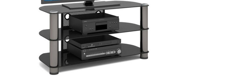 Excellent Unique Sonax TV Stands Pertaining To Sonax Ny 9424 New York Metal And Glass Tv Stand Amazonca Home (View 34 of 50)