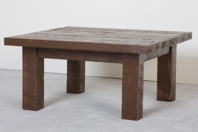 Excellent Unique Square Wooden Coffee Tables Intended For Barnwood Square Coffee Table Rustic Barn Wood Table (Image 16 of 50)