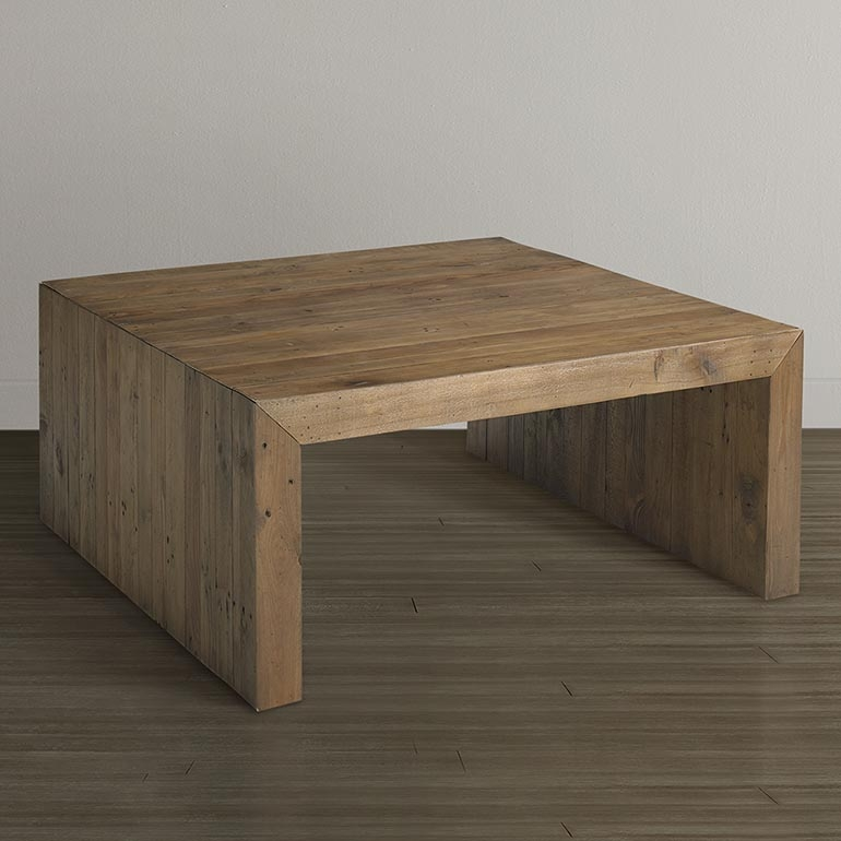 Excellent Unique Square Wooden Coffee Tables With Regard To Salvaged Timber Square Cocktail Table (Image 17 of 50)