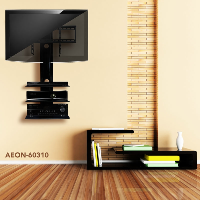 Excellent Unique Wall Mounted TV Stands With Shelves For Wall Mounted Tv Tv Wall Mount With Shelves Fiscally Chic (Image 21 of 50)