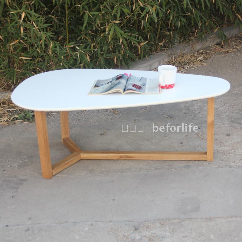 Excellent Unique White Oval Coffee Tables Throughout Furniture Handle Picture More Detailed Picture About Teardrop (View 19 of 50)