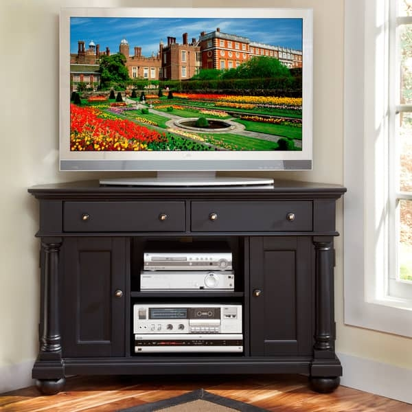Excellent Variety Of Black Corner TV Cabinets Within Black Corner Tv Cabinet (View 15 of 50)
