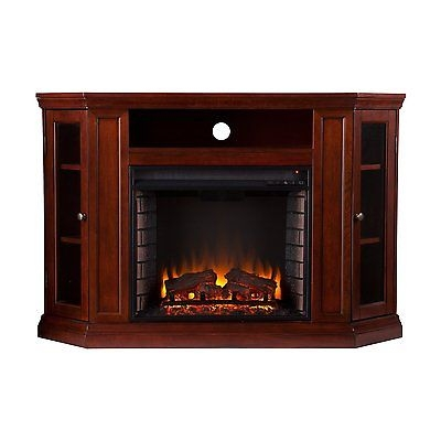 Excellent Variety Of Cherry TV Stands With Tv Stand Media Console Cherry Wood Electric Fireplace Cabinets (Image 14 of 50)