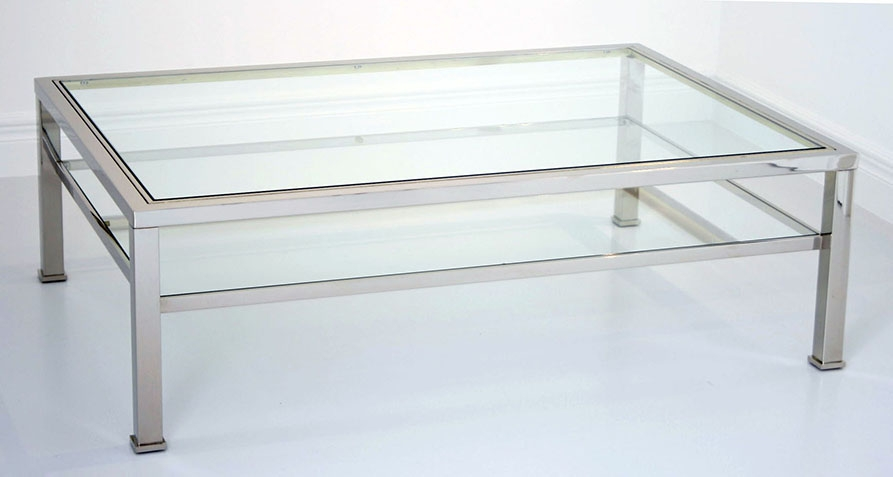 Excellent Variety Of Chrome Glass Coffee Tables Inside Glass And Chrome Coffee Table (Image 18 of 50)