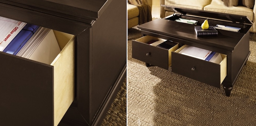 Excellent Variety Of Coffee Tables With Storage Throughout Designing For Small Spaces Coffee Tables With Storage Core (Image 13 of 40)