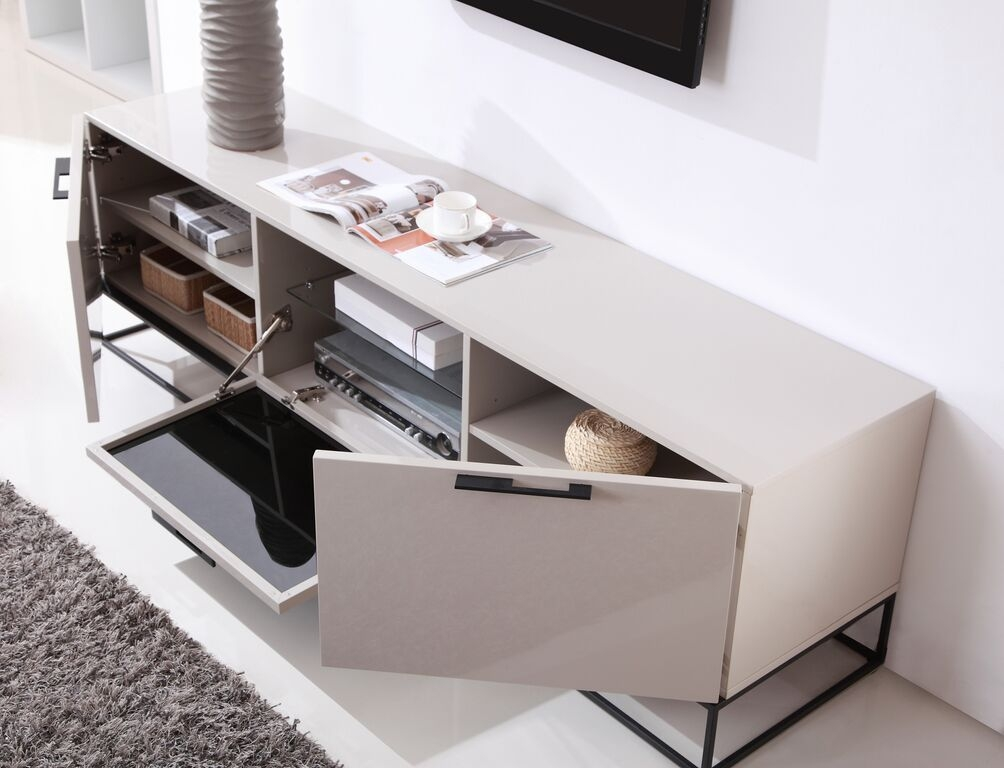 Excellent Variety Of Cream Gloss TV Stands Within Cream High Gloss Tv Cabinet Best Extra Long Modern White Tv Stand (Image 17 of 50)