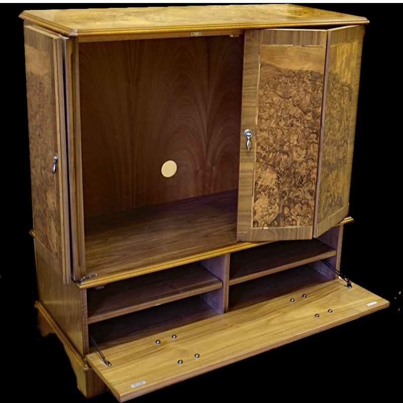 Excellent Variety Of Enclosed TV Cabinets With Doors Intended For Enclosed Reproduction Tv Cabinet In Yewmahoganyoak And Bespoke (Image 18 of 50)