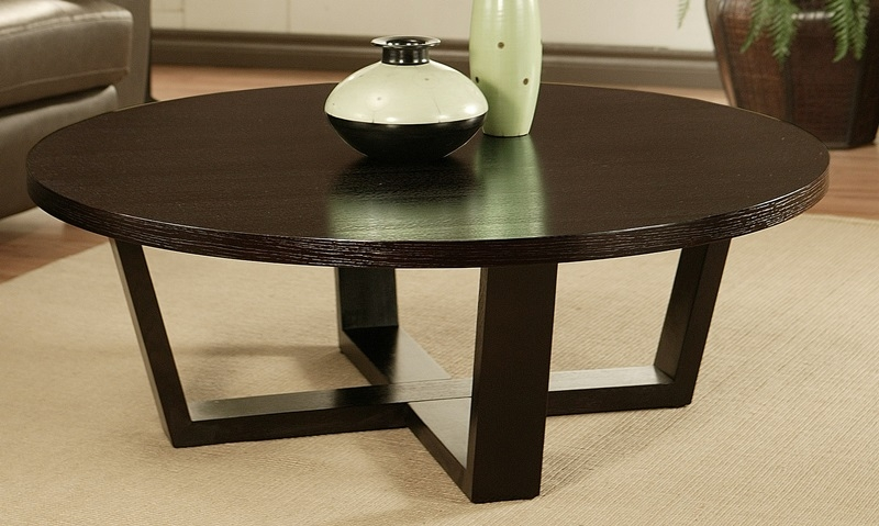Excellent Variety Of Espresso Coffee Tables Within Table Round Espresso Coffee Table Home Interior Design (Image 8 of 50)