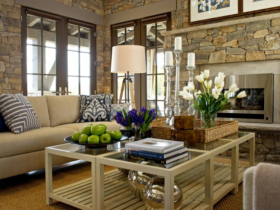 Excellent Variety Of Large Low Level Coffee Tables In 15 Designer Tips For Styling Your Coffee Table Hgtv (View 44 of 50)