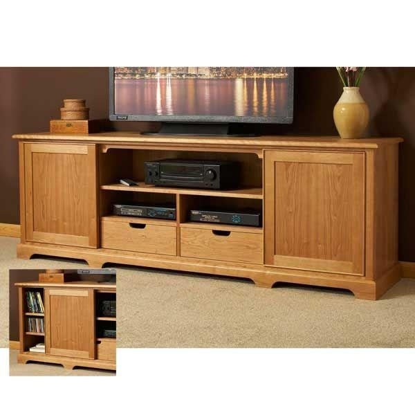 Excellent Variety Of Maple TV Stands For Flat Screens Inside Tv Stand Plans Corner Tv Stand Plans Easy Diy Wood Project Plans (Image 18 of 50)