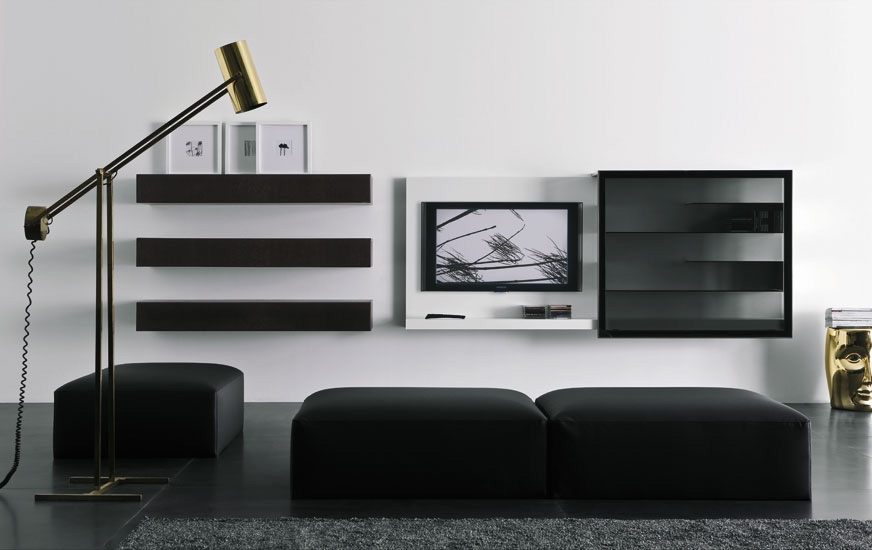Excellent Variety Of Modern TV Cabinets For Flat Screens Throughout Modern Lacquered Tv Cabinets Spazio Box From Pianca Digsdigs (Image 16 of 50)