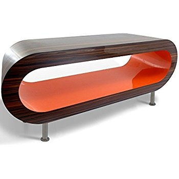 Excellent Variety Of Orange TV Stands Within Retro Stripy Walnut And Orange Hoop Coffee Table Tv Stand In (View 30 of 50)